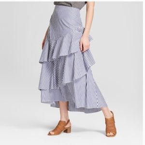 Banana Republic Tiered Ruffle Maxi Skirt
